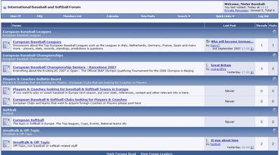 European Baseball Softball Forum