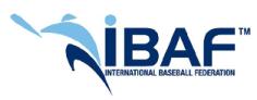 IBAF Logo - International Baseball Federation