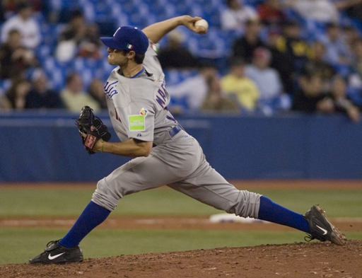 Alessandro Maestri pitching for Italy in the World Baseball Classic