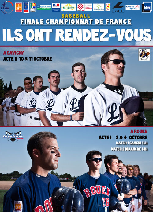 French Baseball Finals between Rouen Huskies and Savigny Lions