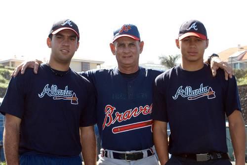 Deion Galvan and Roberto Machado together with Nestor Perez