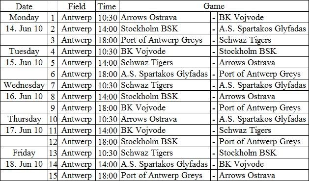 Antwerp_Schedule