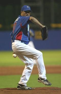 Horacio Estrada pitching for San Marino