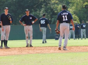 Barry Larkin talking to Prospects at European Academy