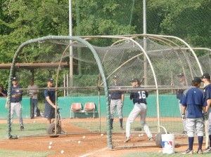 Batting Practice at MLB European Academy