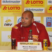 Mauro Mazzotti during the 2010 European Championship