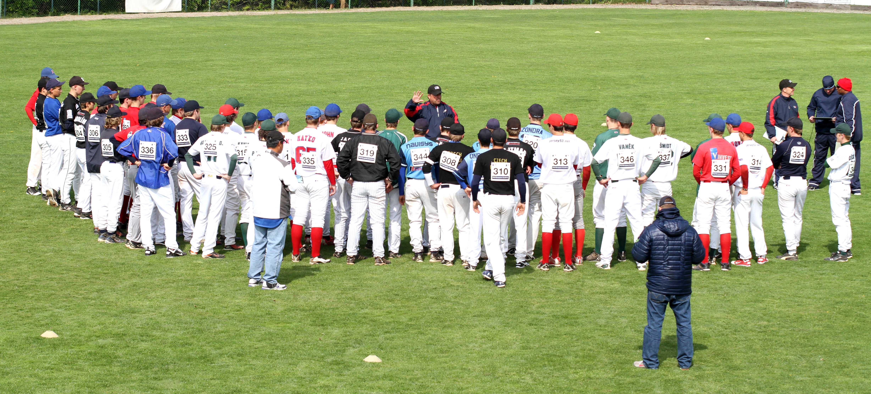 Major League Baseball holds Tryouts in Krc, Czech Republic ...