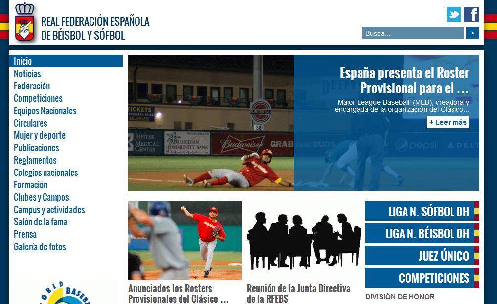 Spanish Baseball and Softball Federation with new Website