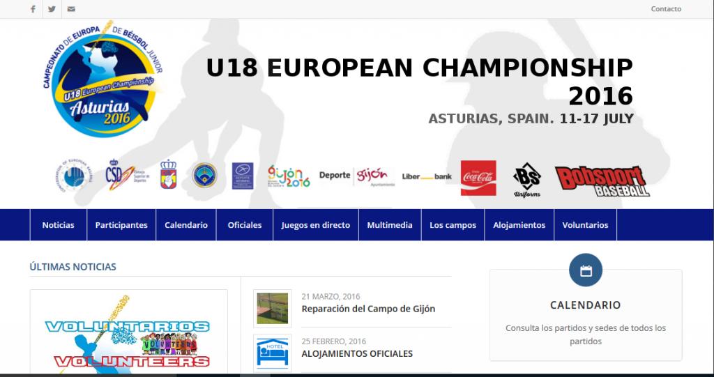 Screen U18 Website