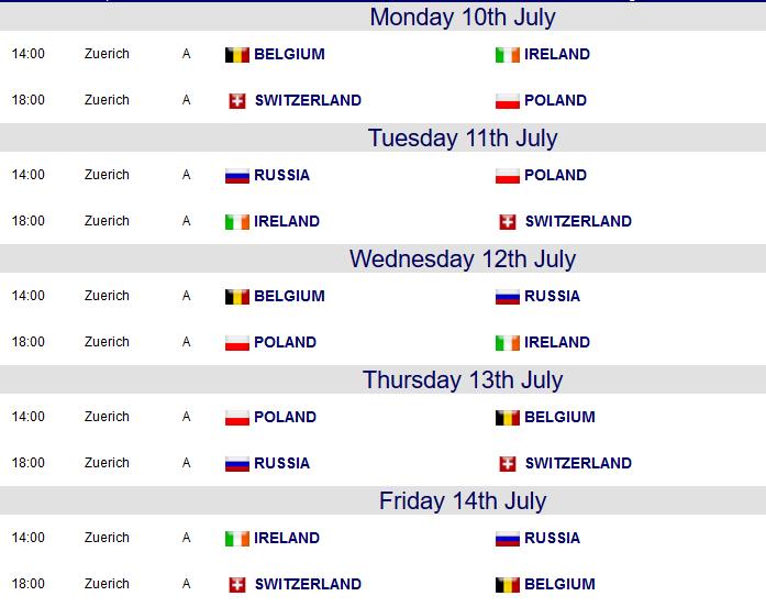 Schedule Zurich